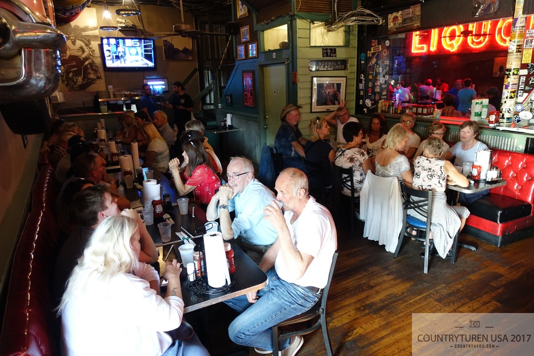 BBQ middag på Blues City Cafe, Memphis