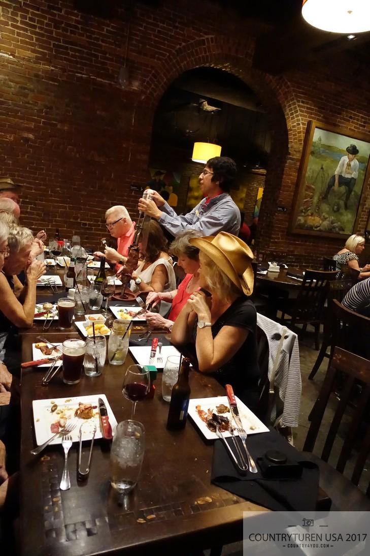 Middag på Brasiliansk restaurant i Nashville